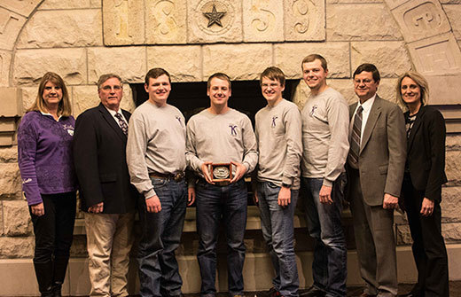 Former WHS Student on the Winning Team of the K-State animal sciences academic quadrathlon.