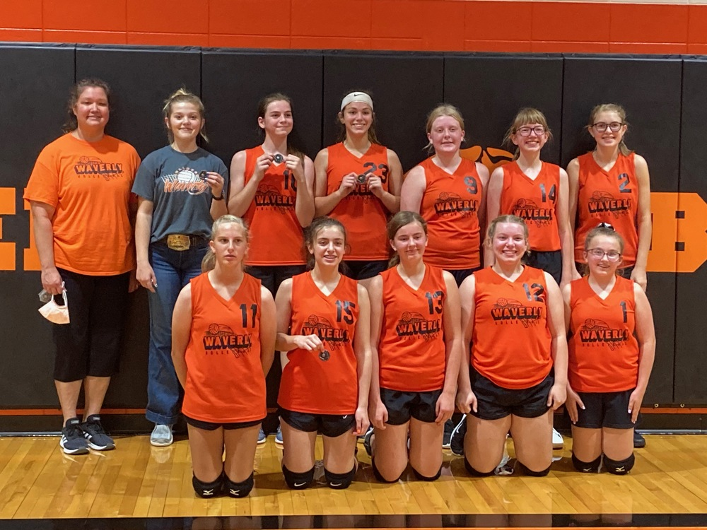 WJH Volleyball finished 2020 season with a 2nd Place Finish in the LCL JH