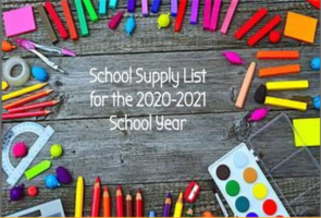 Jr. High & High School Supply List 20-21