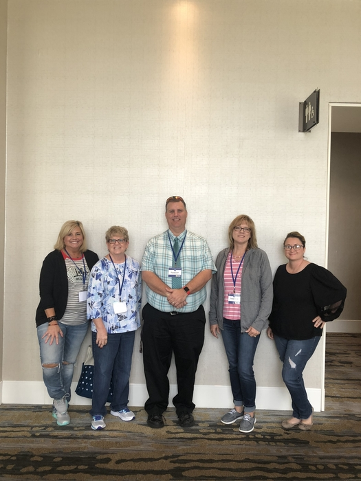 Lebo crew:Angela Davies, Vicki Rosine, Mr. Ford, Trease Gould, Bev Gross