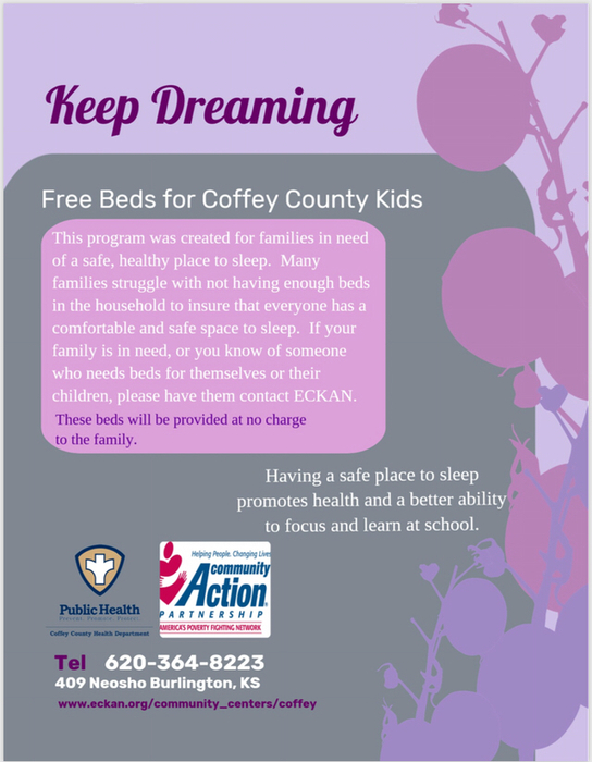 Free beds for Coffey County Beds