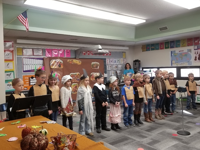 1st grade Thanksgiving play.