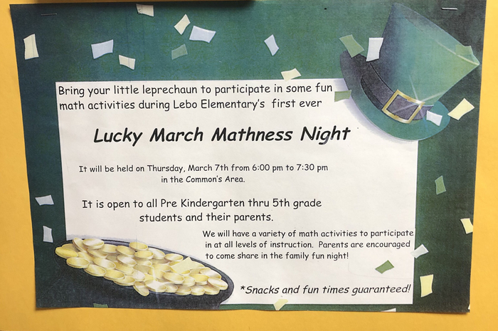 Lucky March Mathness Night