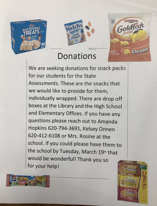 Donations for state assessments