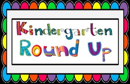 Kindergarten Round Up words in multiple colors