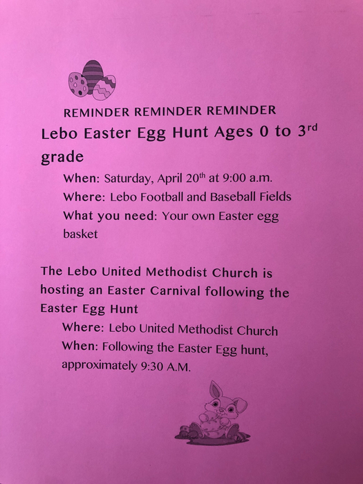 Easter egg hunt and carnival