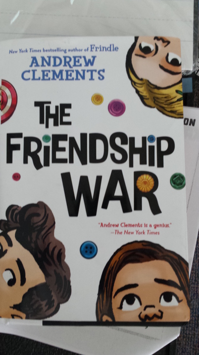 3rd Grade has been reading The Friendship War by Andrew Clements