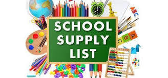 2019-2020 WES Supply List