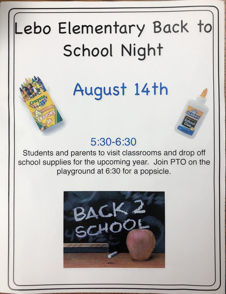 Lebo Elementary Back to School Night