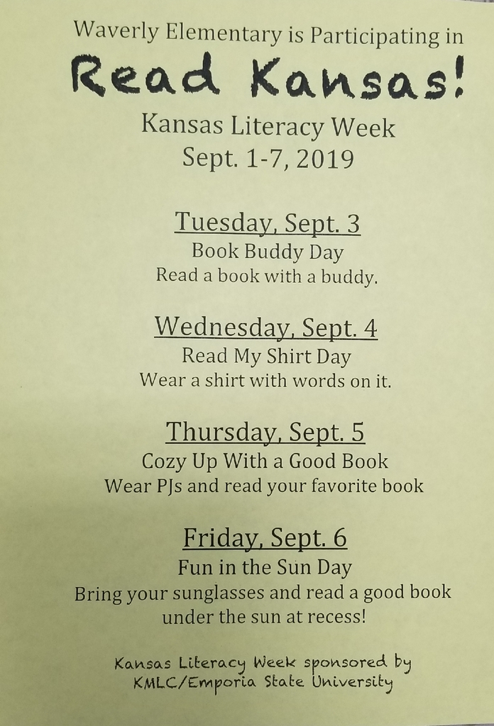 Kansas Literacy Week- 2019