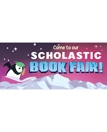 "Scholastic Book Fair Coming Soon! Arctic Adventure, ""Snow Many Books!""  Rights granted by Scholastic."