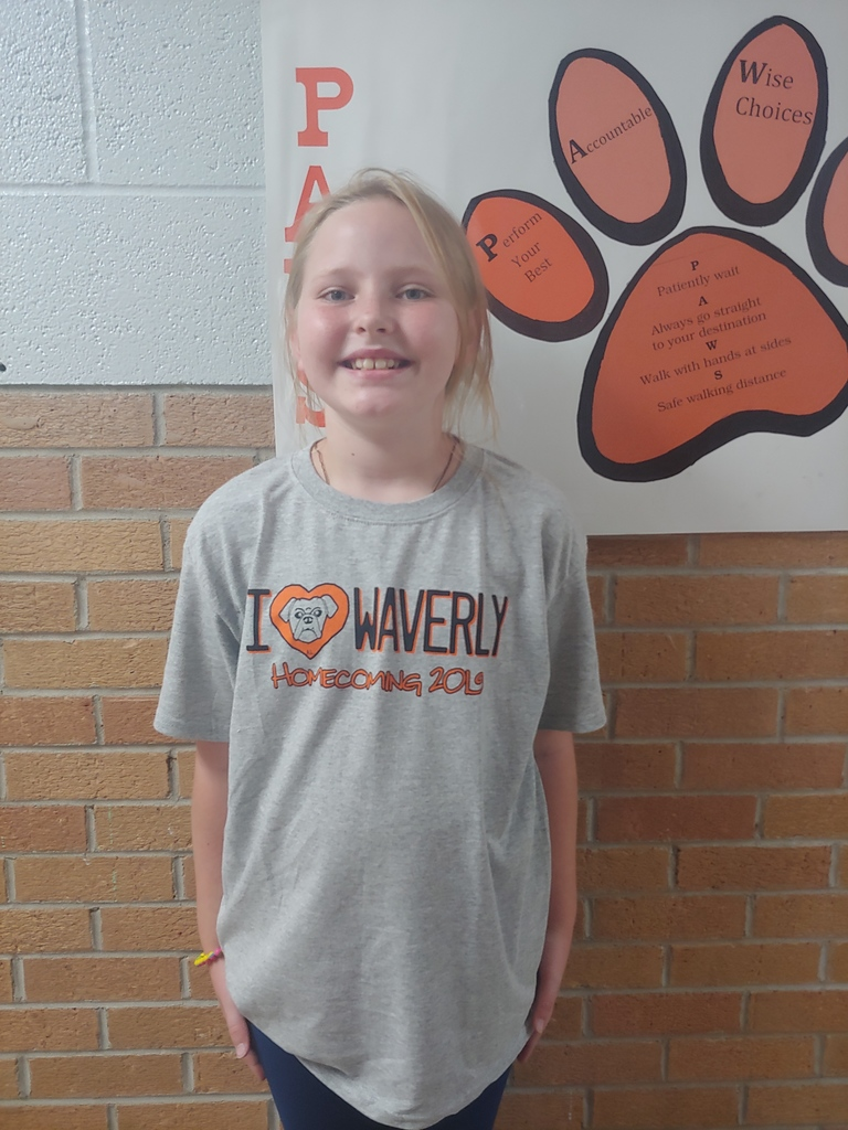 Annabelle wearing the shirt she designed! Homecoming shirts are in!