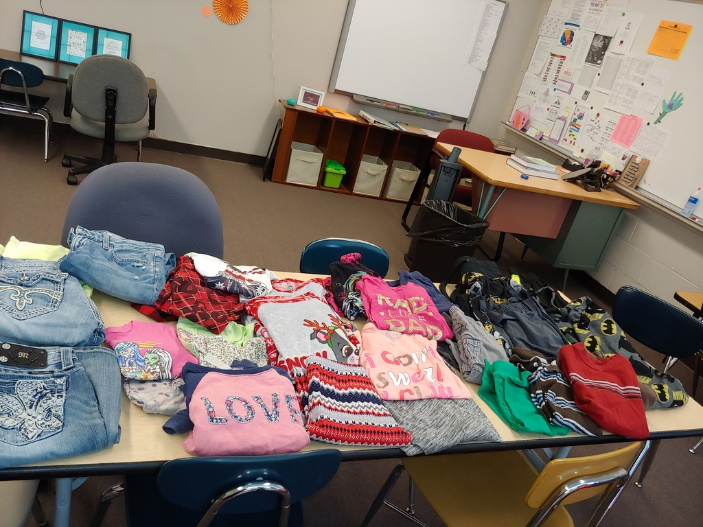 A few of the clothes donated for the clothing swap.