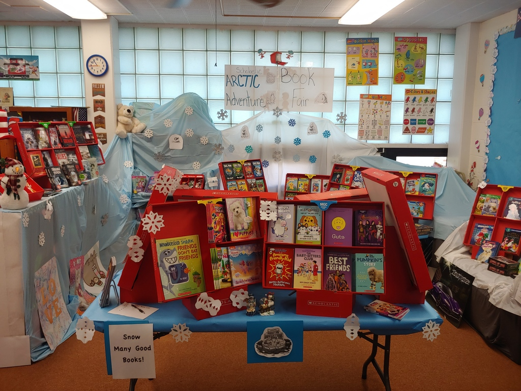 """Snow many"" good books to buy at the Scholastic Book Fair located in the Waverly Elementary Library!"