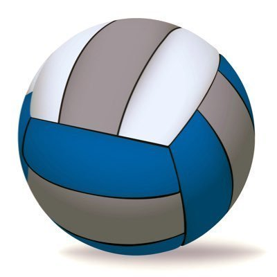 Blue, White, & Gray volleyball