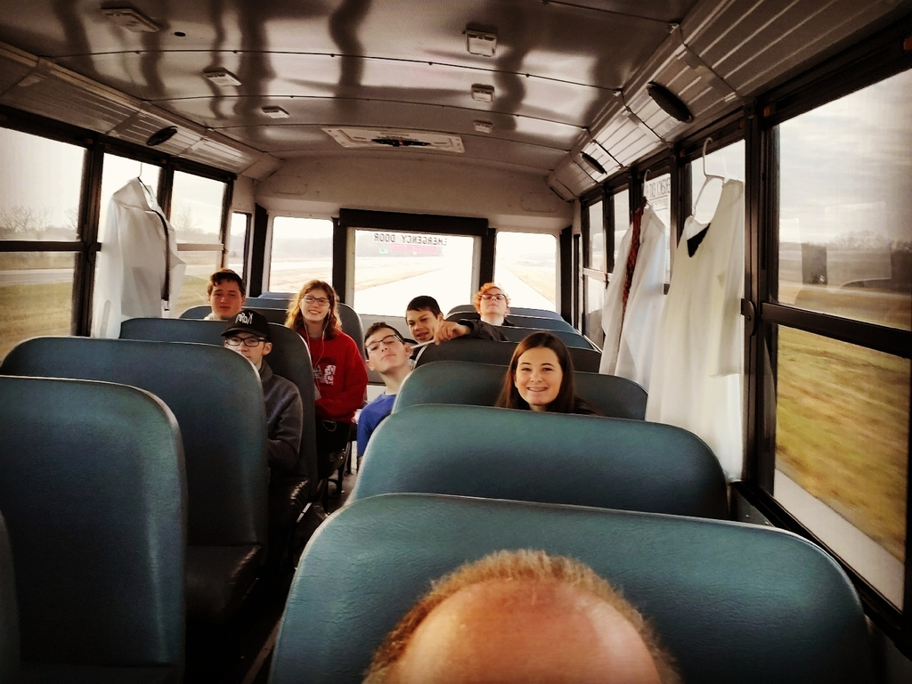 LHS Band members on their way to the ESU Honor Band