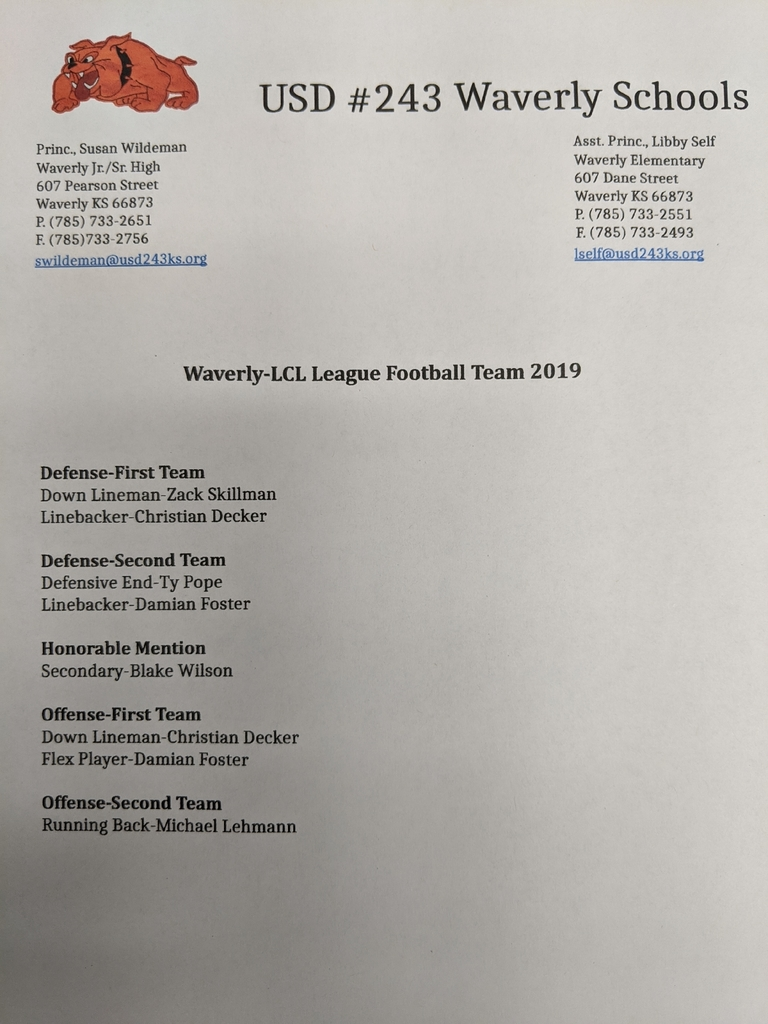 LCL All League Fball