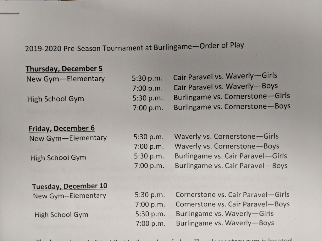 preseason basketball schedule