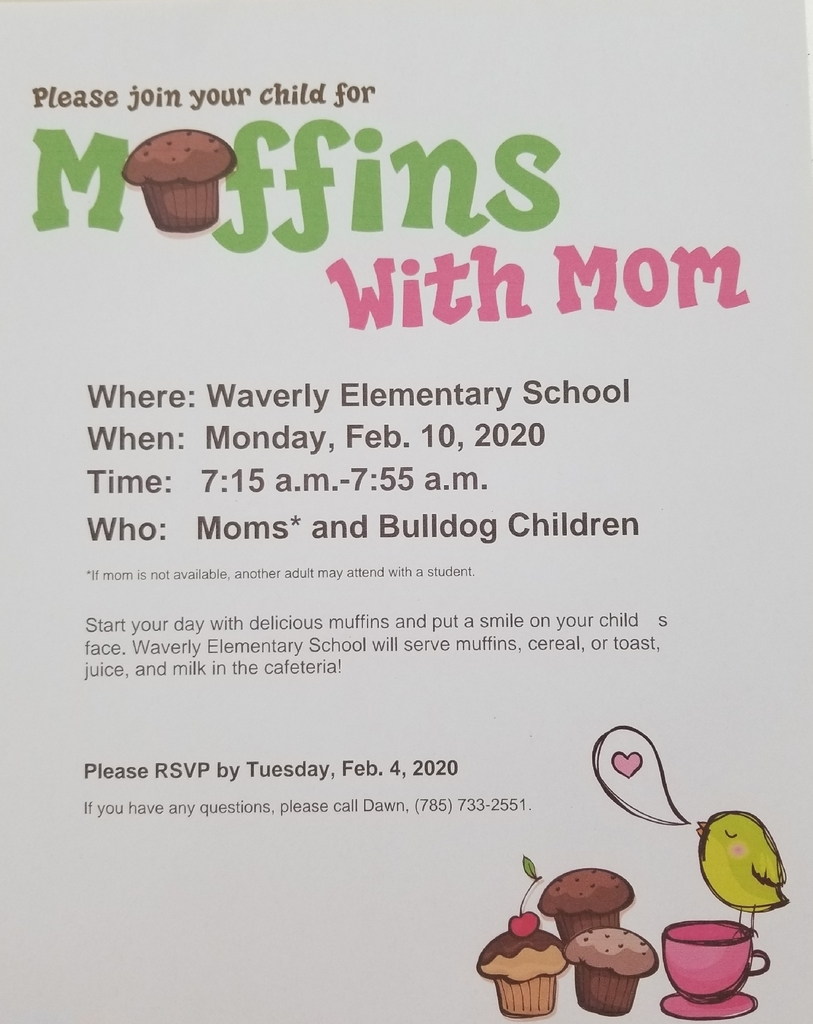 Muffins with Mom 2020 Waverly Elementary School