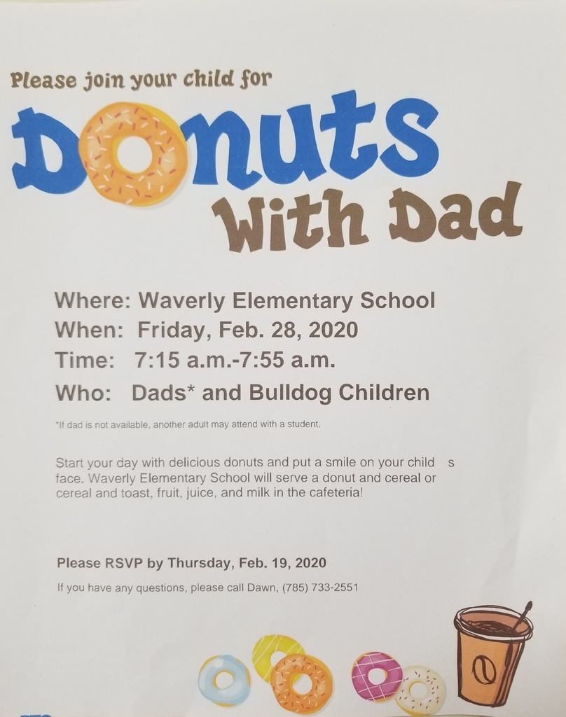 Donuts with Dad Waverly Elementary School USD 243