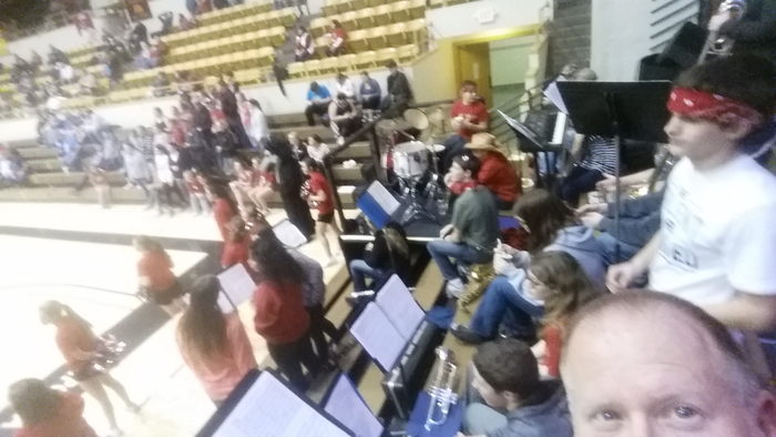 Lebo High School Pep Band plays at Lyon County League Tournament