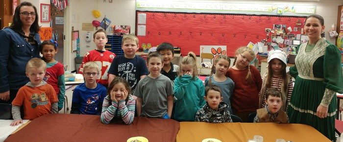First Grade on Kansas Day!
