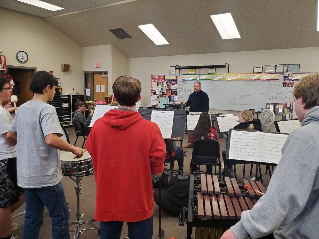 Mr. Shawn Knopp, Friends University, works with the LHS Band