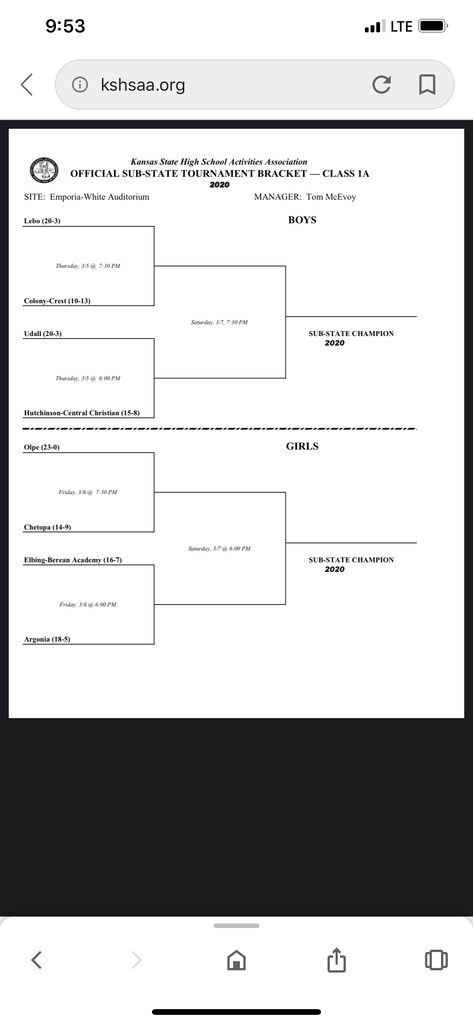 Here is the bracket!