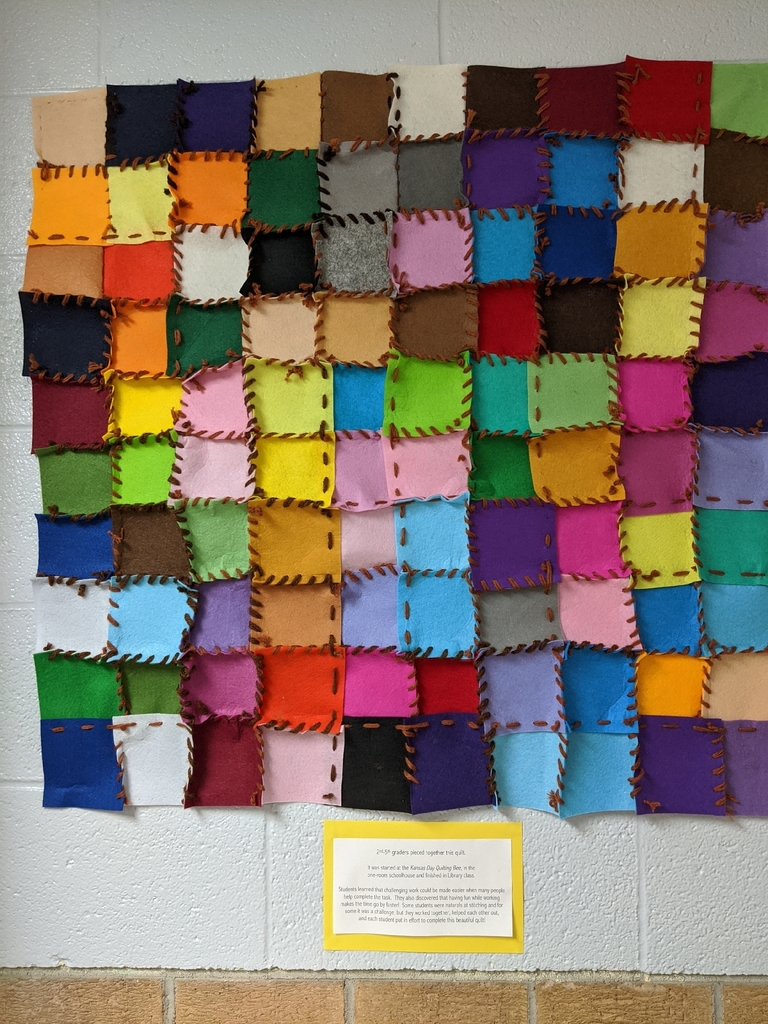 Quilt created by 2nd-5th grades