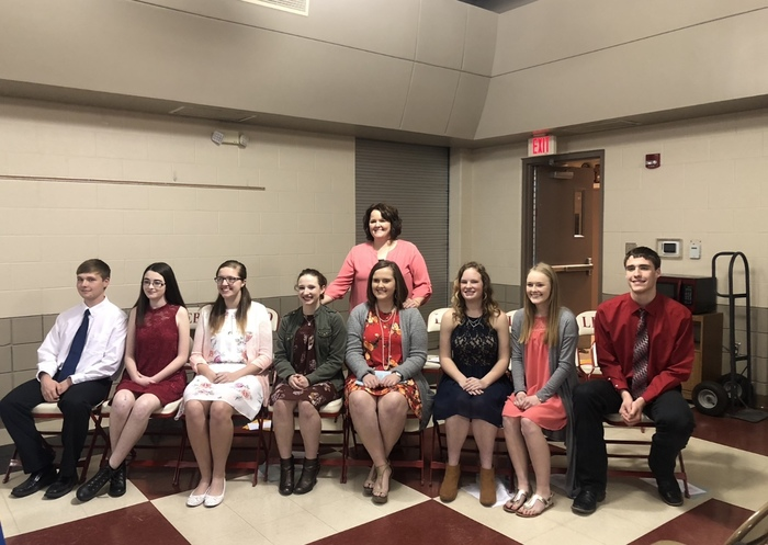 New 2018 members of NHS with 2018 Honorary Member