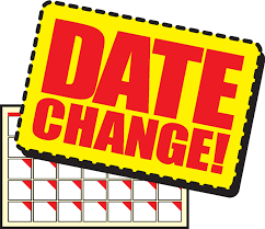 "The words ""Date Change"" on top of a calander"