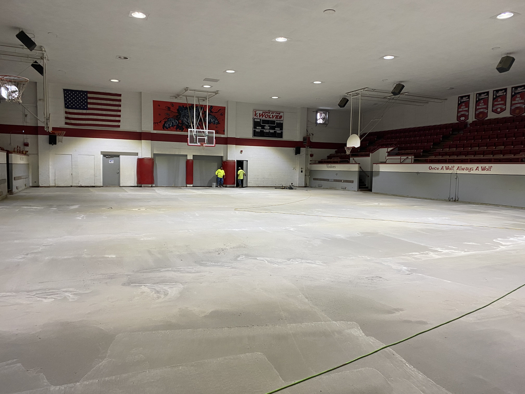 Gym concrete slab being finished