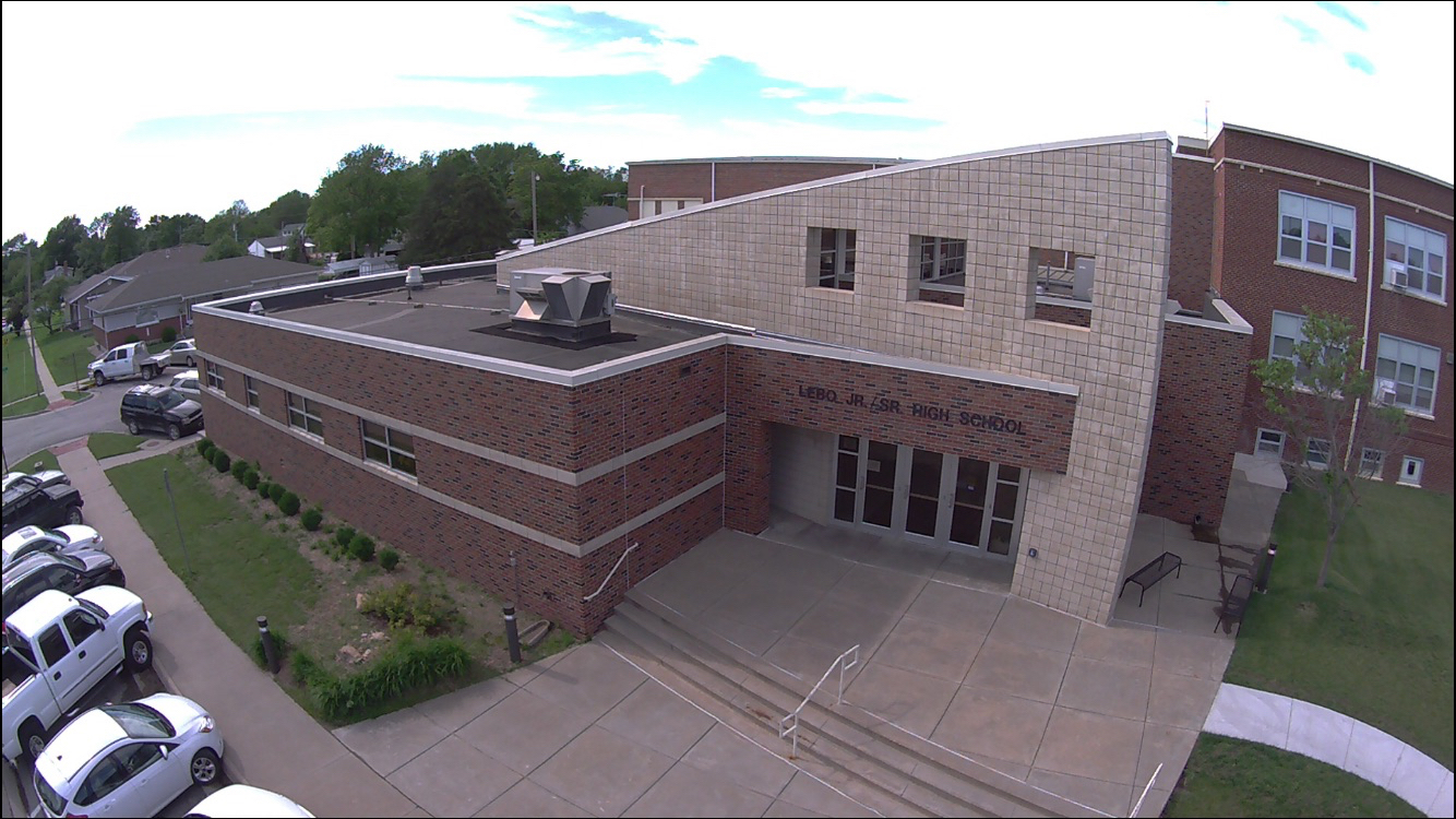 Drone Shot of SE school Entrance